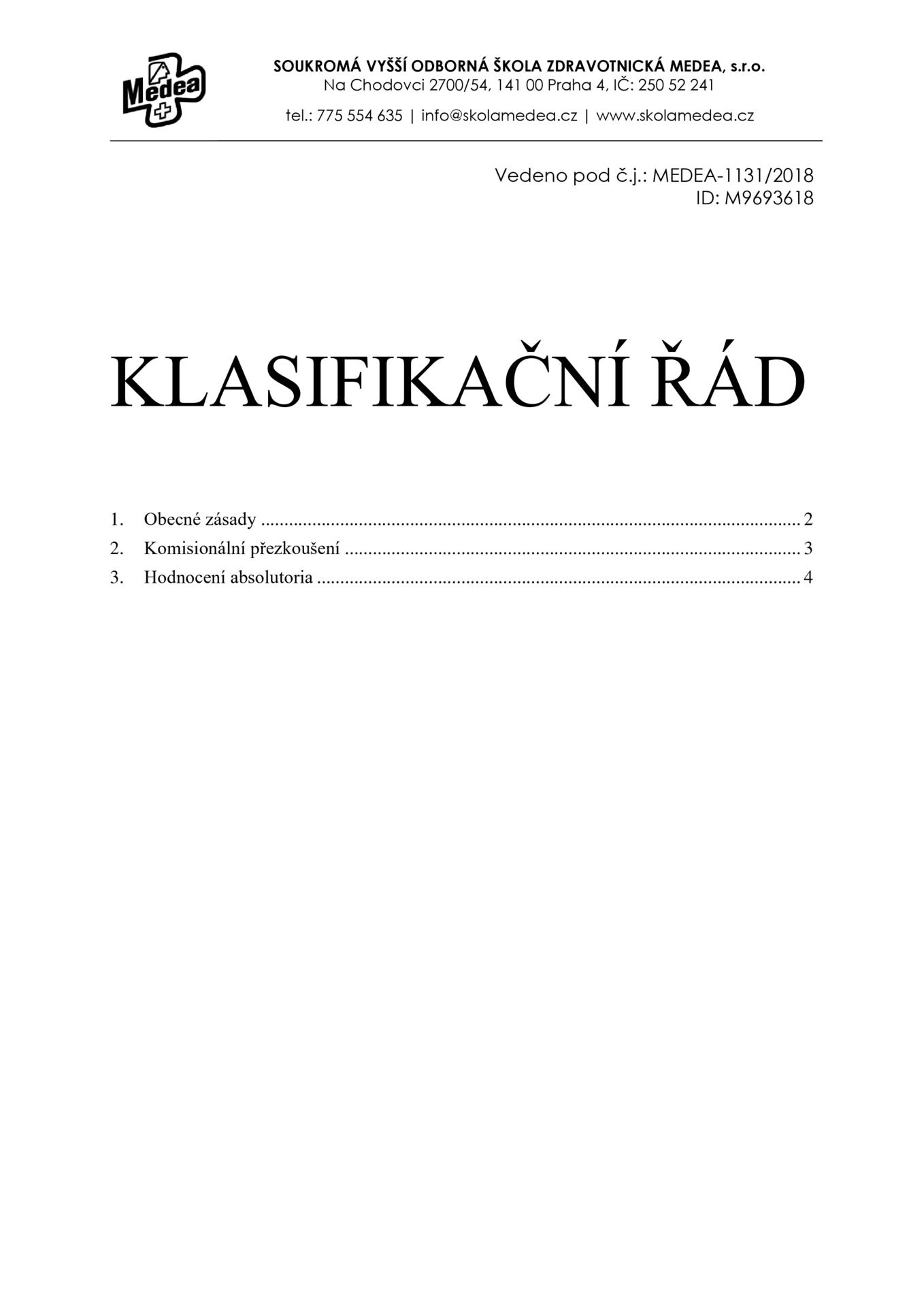 thumbnail of Klasifikační-řád-2018-10-22